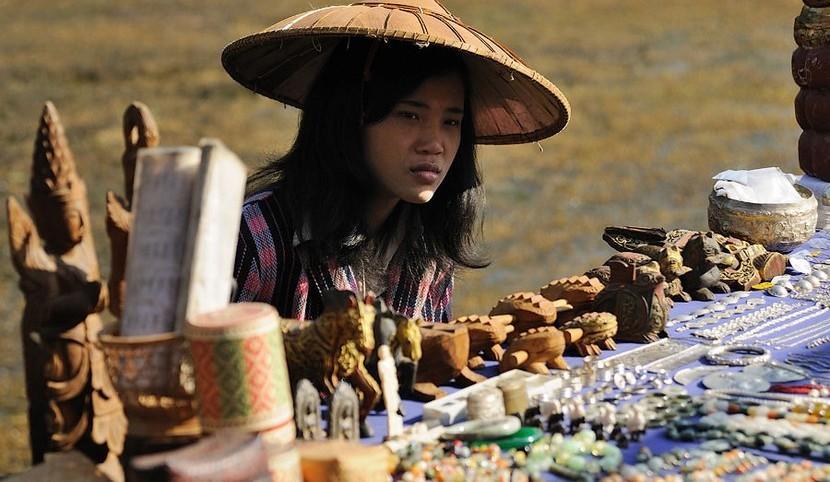 Рынок Инле Мьянма