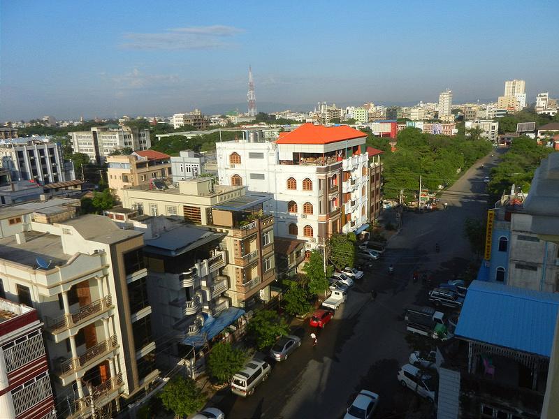 Мандалай вид на город