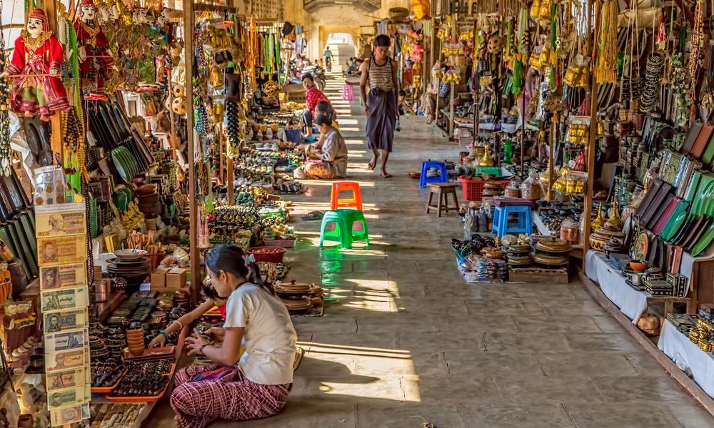 Рынок в Янгоне