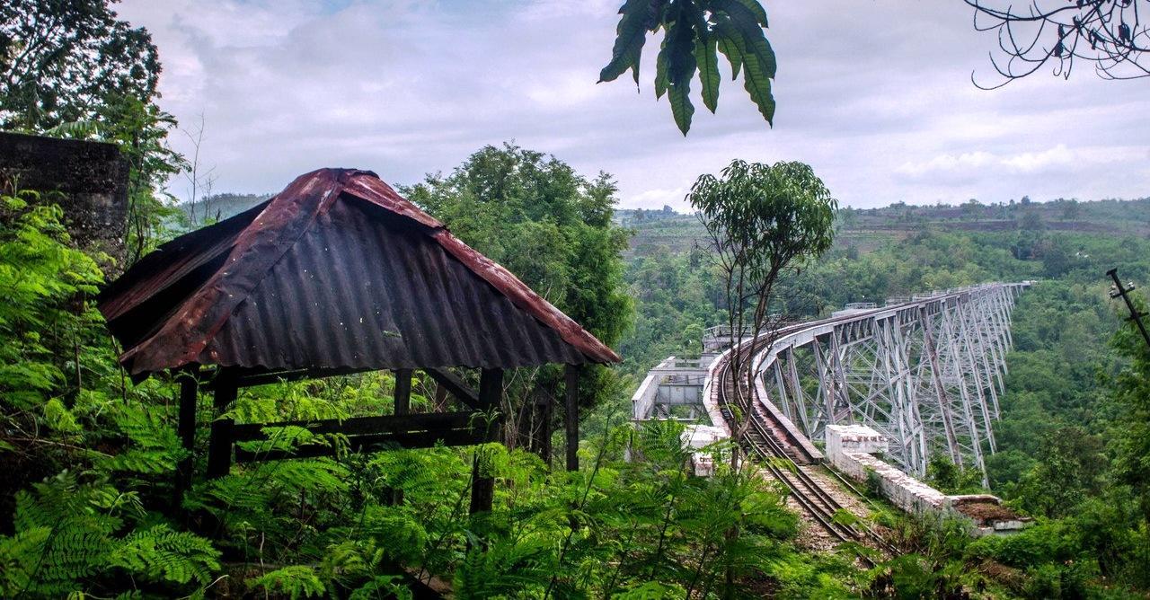 Виадук готейк в мьянме